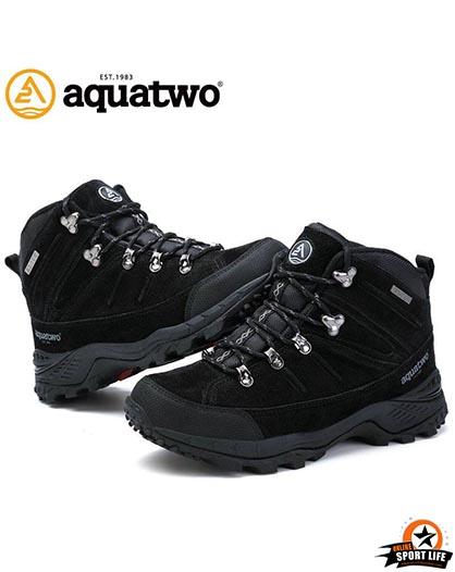 รองเท้าหนังกลับ-กันน้ำ-เดินป่า-aqautwo-รุ่น943-สีดำ
