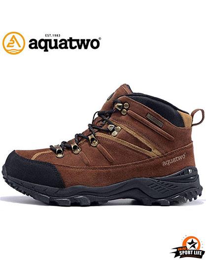 รองเท้าหนังกลับ-กันน้ำ-เดินป่า-aqautwo-รุ่น943-สีน้ำตาลเข้ม