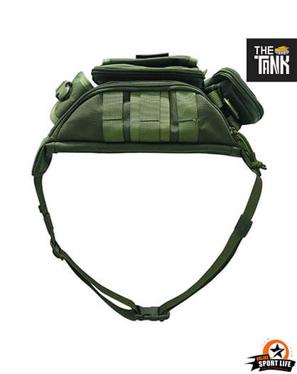 กระเป๋าคาดเอว Gu27-กันน้ำ-เดินป่า-สีเขียว