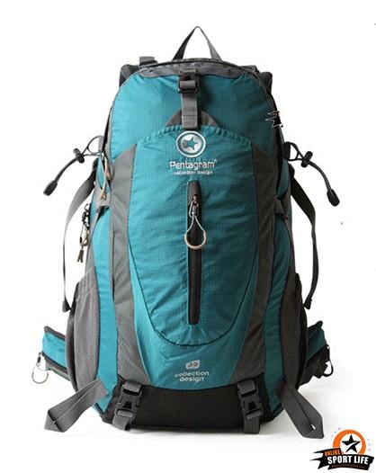 กระเป๋าเป้ กระเป๋าสะพายหลัง เดินทาง ยี่ห้อ Pentagram จุ 50L-ฟ้าน้ำทะเล