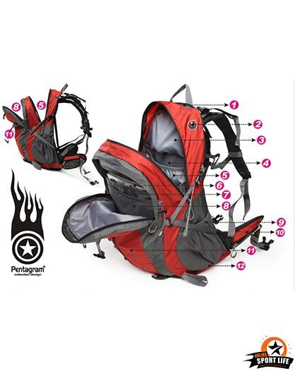 กระเป๋าเป้ กระเป๋าสะพายหลัง เดินทาง ยี่ห้อ Pentagram จุ 50L-รายละเอียดสินค้า